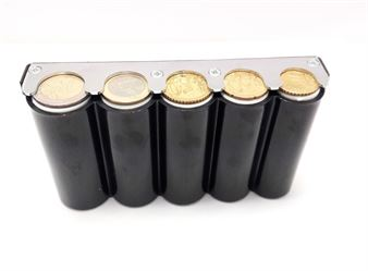 Picture of Eurocash 03 - Κερματοθήκη εισπράκτορα μαύρη 5 θέσεων με μεταλλικό στήριγμα κερμάτων