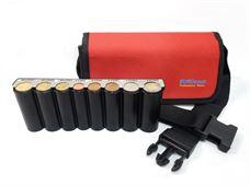 Εικόνα της Eurocash PW 8 Red - Επαγγελματικό τσαντάκι μέσης και κερματοθήκη εισπράκτορα 8 θέσεων με μεταλλική μπάρα συγκράτησης νοσμισμάτων