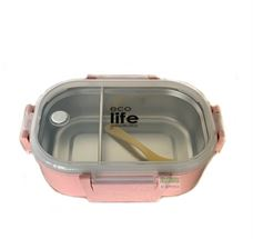 Picture of  Φαγητοδοχείο ECOlife Light Pink 900ml | Με χώρισμα