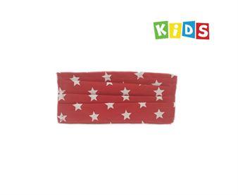 Εικόνα της Παιδική μάσκα προστασίας πολλαπλών χρήσεων με διπλό ύφασμα, MASKup Red - 100% βαμβάκι