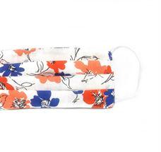 Εικόνα της Μάσκα προστασίας πολλαπλών χρήσεων με διπλό ύφασμα, MASKup floral white - 100% βαμβάκι