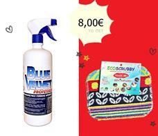 Picture of Καθαριστικό BLUE VELVET 1lt + 1 Eco scrubby