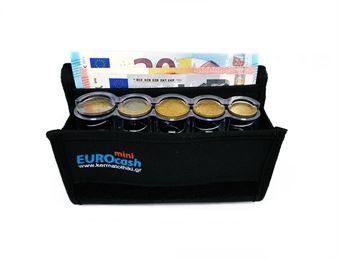 Εικόνα της Eurocash mini 5PS -  Επαγγελματικό πορτοφόλι και διάφανη πλαστική κερματοθήκη 5 θέσεων
